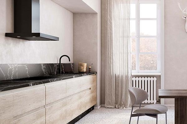 Hotte Novy d'une cuisine design
