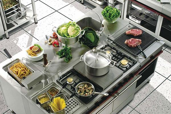 Piano de cuisson, fourneaux Ambassade de Bourgogne professionnel