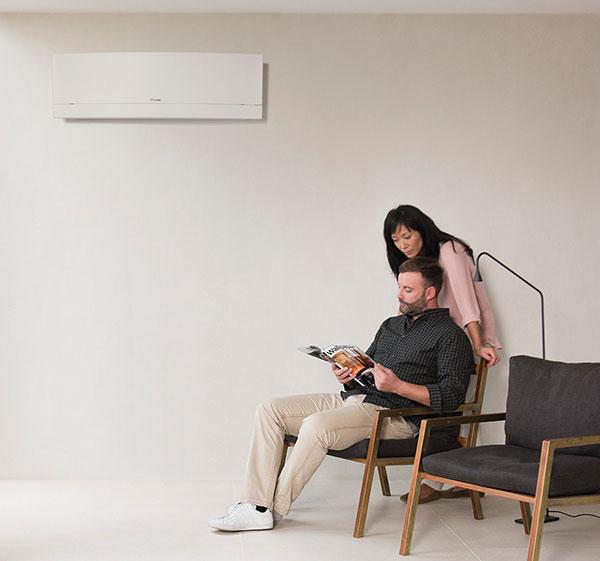 Climatiseur mural salon avec couple